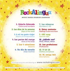 GIVEAWAY: Spanish Music Videos DVD Giveaway: Rockalingua - Spanish Playground These videos have great music and teach common vocabulary and structures in context. Wonderful learning! #giveaway  #spanish songs http://spanishplayground.net/spanish-music-videos-rockalingua/