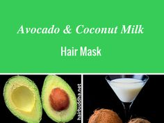 Whipped Avocado & coconut milk hair mask