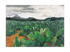 Patch of Prickly Pears on the Way to Tulancingo (Cloudy Sky) 2004 Giclee Print by Pedro Diego Alvarado at Art.com