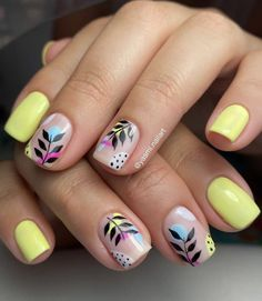 Cute Nail Art Designs, Simple Nail Designs, Spring Nail Colors, Spring Nails, Trendy Nails, Cute Nails, Hair And Nails, My Nails, Magic Nails