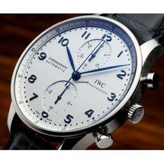 萬國 (IWC) [NEW YEAR SPECIAL] Portuguese Chronograph Automatic IW371446 (Retail: HK $60,600) - Spring Break Special at:- HK$41,500.