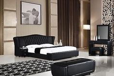 Bedroom Sets 20480: B-D028-B-Ck Modern 3Pcs Black Cal King Platform Bedroom Set -> BUY IT NOW ONLY: $1582.47 on eBay!