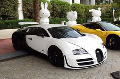 Outrageous is the only way to describe the Bugatti Veyron. The fastest production car in the world with a top speed of Car In The World, Bugatti Veyron, Ferrari 458, Hot Cars, Cars Motorcycles, Dream Cars, Super Cars, Racing, Black And White