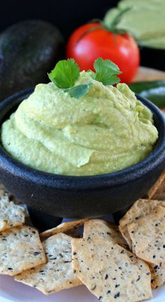 Spicy Hummus with Avocado