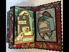 Dec 2014 G45 Raining Cats & Dogs - Part 7 How to make a 6 x 4 mini album with flaps from start to finish