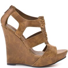 Heels I Love #heels #summer #high_heels #color #love   Michael Antonio    Gower Wedge - Tan Pu