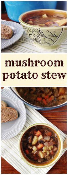 Mushroom Potato Stew with Red Wine - vegan, gluten-free