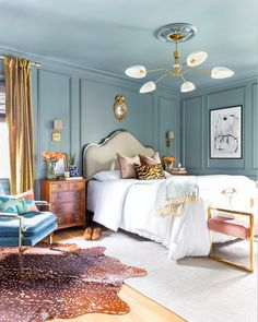 Bedroom Wall Designs, Home Decor Bedroom, Bedroom Ideas, Bedroom Furniture, Bedroom Inspiration, Eclectic Bedroom Decor, Art Deco Bedroom, Traditional Bedroom Decor, Interior Livingroom