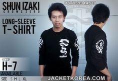 jual kaos crows zero online murah Izaki (H Anime Jacket, Crows Zero, Jake T, Graphic Sweatshirt, T Shirt, Casual Wear, Korean Fashion, Long Sleeve Shirts