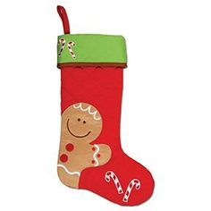 Stephen Joseph Christmas Stocking Gingerbread