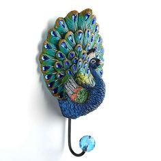 Peacock Wall Hook | Kirklands