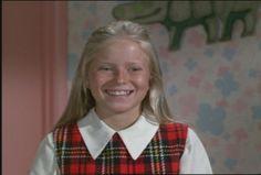 "Eve Plumb - Jan Brady on ""The Brady Bunch,"" Brady Love, The Brady Bunch, Taurus Star Sign, Eve Plumb, Robert Reed, 70s Tv Shows, Popular Shows, Three Daughters, Child Actors"