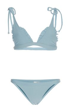 Made By Dawn Ribbed Traveler String Bikini Set
