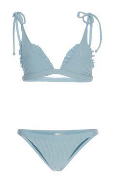 Made By Dawn Ribbed Traveler String Bikini Set