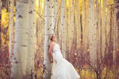 wedding dress aspen trees - Google Search