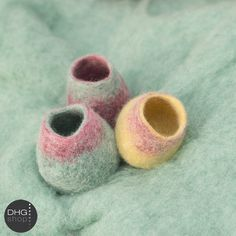 Nuno felting. Little sweet nests made with our carded wool.   http://www.dhgshop.it/fibers-carded-batts-70maori-30bergschaf-carded-wool.php