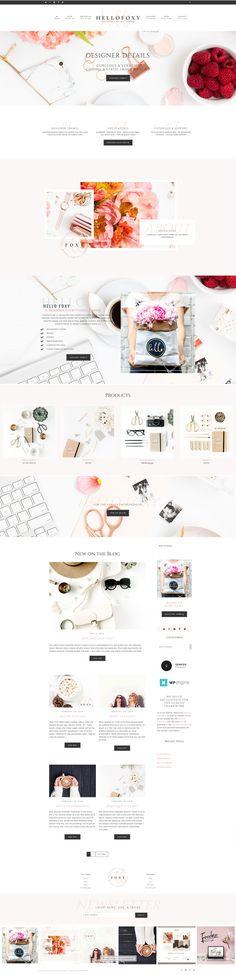 Hello Foxy Wordpress Genesis Theme by Hello You Designs on @creativemarket