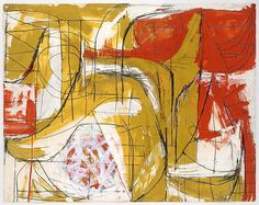 Red, Ochre and White  Artist:Fritz Bultman (American, 1919–1985) Date:1952 Medium:Gouache and graphite on paper Dimensions:23 x 29in. (58.4 x 73.7cm) Classification:Drawings