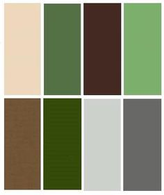 Bedroom Colors: Green / Brown / Silver