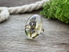 Levendula műgyanta gyűrű Jewelry, Rings, Accessories, Jewlery, Jewerly, Schmuck, Ring, Jewelry Rings, Jewels