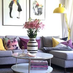 Colorful nordic living room