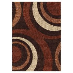 Burgundy and brown color tones make the Orian Rugs Circles Fire Hole Shag Area Rug a welcoming and cozy addition to your indoor or outdoor living space. Dark Color Palette, Dark Colors, Color Tones, Rug Texture, Circular Pattern, Entry Rug, Rug Sale, Home Decor Furniture, Rugs