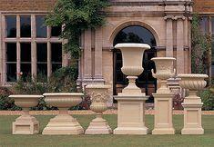 Pedestals and Plinths Garden Urns, Garden Fountains, Terrazzo, Landscape Design, Garden Design, Urn Planters, Tiered Planter, Pot Jardin, Classic Garden