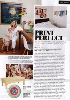Design in Print│ The Sunday Telegraph Sunday Style November 2013 featuring the Diane Bergeron for Arthur G Collection Babe Bench