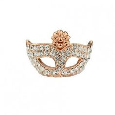 Elegant Queenly Mask With Diamond Women's Cocktail Ring - USD $48.95