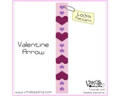 Loom Bead Pattern  Valentine Arrow   INSTANT DOWNLOAD pdf