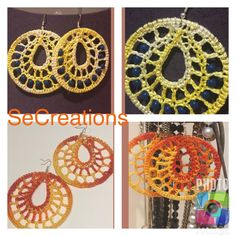 A personal favorite from my Etsy shop https://www.etsy.com/listing/526923599/wonderfully-crochet-earrings-yellow