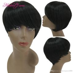 New Stylish 1b Fantastic Nice Natural Color Short Straight Bob Synthetic Hair Wigs For Black Women Ladys' Hair Wig/Wigs Full Wig Capless Remy Lace Front Wigs Cheap Lace Front Wigs From Modernqueen888, $14.5| Dhgate.Com Lace Wigs Uk, Nicki Minaj Wig, Short Straight Bob, Cheap Lace Front Wigs, Wigs For Sale, Color Shorts, Wigs For Black Women, Hair Wigs, Synthetic Hair