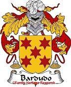 Bardudo Spanish Coat of Arms Print Family Crest Bardudo