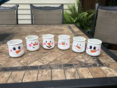 "Snowman tea lights made from recycled ""oui"" jars Snowman Crafts, Jar Crafts, Bottle Crafts, Home Crafts, Snowman Mugs, Crafts With Glass Jars, Small Glass Jars, Christmas Jars, Christmas Decorations"