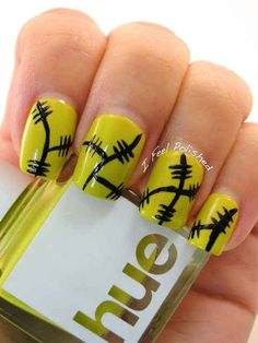 Frankenstein Nails | 25 Clever Nail Ideas For Halloween