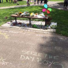 Tribute to Robin Williams, Boston public garden, August 2014