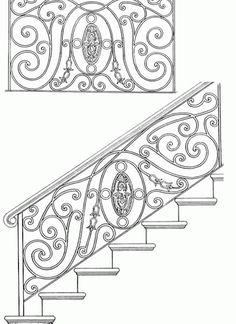 Garde corps escalier balcon en fer forg style for Meuble angele circulaire