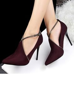 Suede cut out pointed toe women stiletto Heel shoes elegant stiletto Women stiletto. Fancy Shoes, Pretty Shoes, Beautiful Shoes, Me Too Shoes, Beautiful Pictures, Stilettos, Black Stiletto Heels, High Heels, Shoe Boots