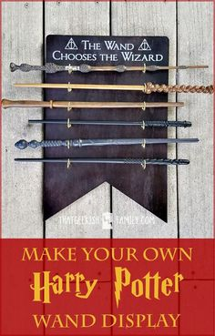 Make your own Harry Potter Wand Holder and Display to keep your wands out of the hands of muggles with this easy DIY project from http://ThatGeekishFamily.com