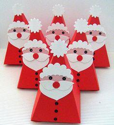 Kate's Krafts: Petal Cone Santas