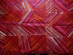 Red Geometric Squares and Stripes Print African by LaAntigua