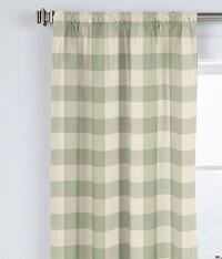 Buffalo Check Rod Pocket Curtains - Pair_118587