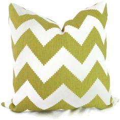 Jonathan Adler Chartreuse Chevron Pillow Cover 18x18, 20x20, 22x22 or lumbar - Accent Pillow - Throw Pillow