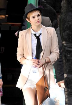 Emma Watson as FemCas with a Hat
