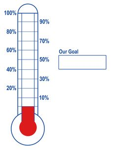 free thermometer template for reaching goals visual motivation