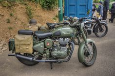 Royal Enfield - Shown at Crich Tramway museum 1940's event
