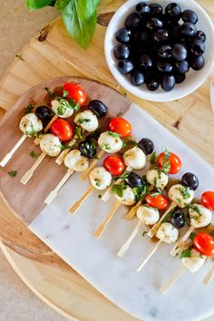 pictures of olive appetizers | Caprese and Olive Appetizers, + Free Groceries for a Year! | Our Holly Days