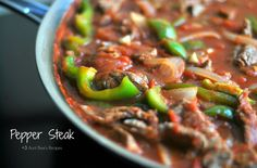 Aunt Bee's Recipes: Pepper Steak