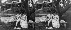 Old vintage photographs of people taking naps!