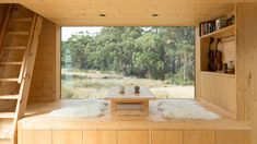 Designed by Maguire and Devine Architects, Bruny Island Hideaway is a compact off-grid cabin with a minimalist design inspired by Japanese architecture. Minimalist Room, Minimalist Interior, Minimalist Design, Simple Interior, Modern Design, Interior Minimalista, Japan Design, Minimaliste Tiny House, Monsaraz